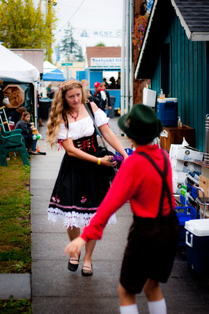 A photograph taken at Oktoberfest in Mount Angel
